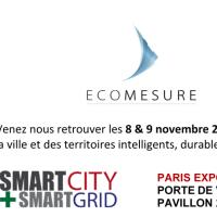 Ecomesure sera au Salon de la ville et des territoires intelligents, durables et connectés !