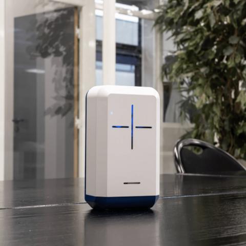 Un appareil de mesure de la qualité de l'air intérieur